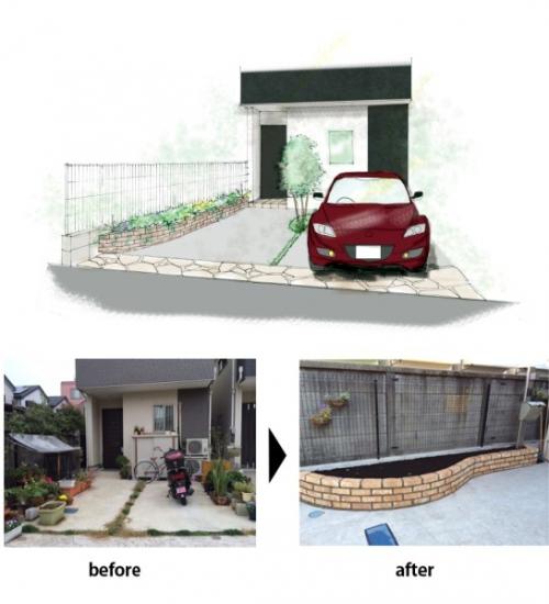 お庭の模様替え 低予算でも効果的な例