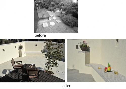 和風庭園から憩いの空間へ・・お庭の改修