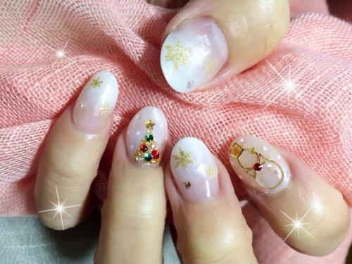 クリスマスネイル☆雪だるま☆ツリー☆雪の結晶