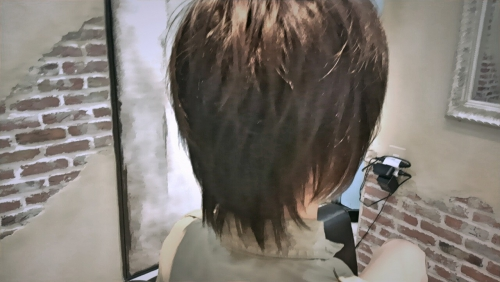 メンズ ショート マットアッシュ武蔵新城 美容室momo