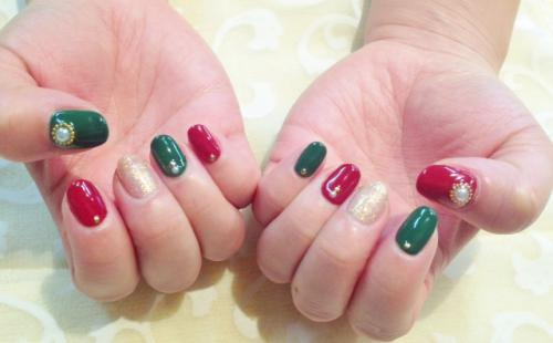 クリスマスデザイン(12月のキャンペーンジェルネイル)