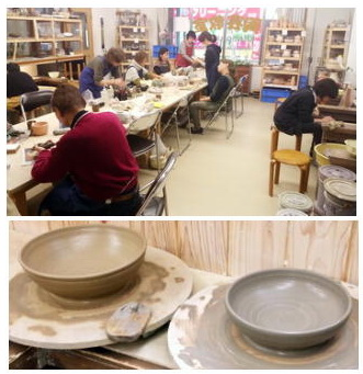 陶芸教室 東京 国立けんぼう窯 2月初日の教室風景。