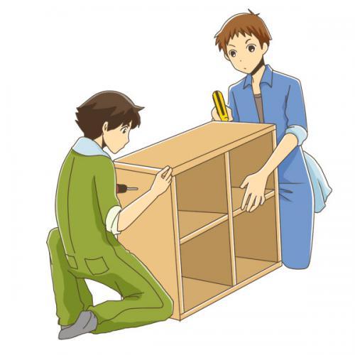 本棚・冷蔵庫等、家具家電、2tトラック引越しサポート