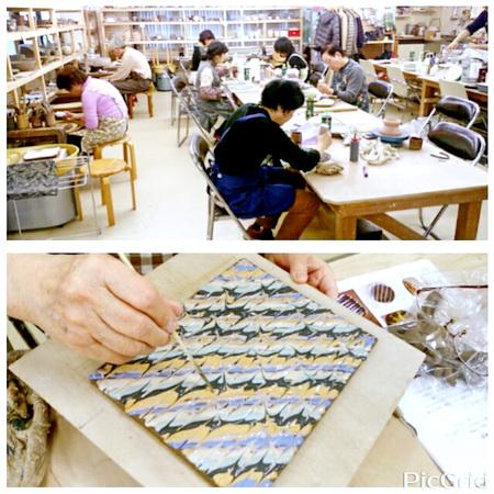 スリップウエアーという陶芸技法。陶芸教室 東京国立けんぼう窯