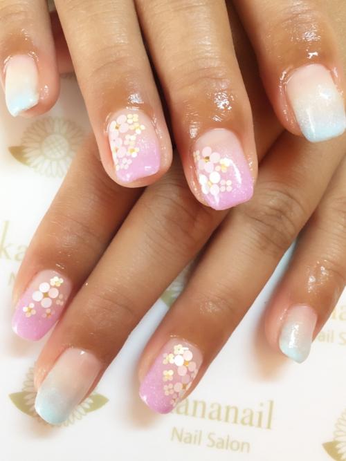 ☆梅雨紫陽花random nail☆