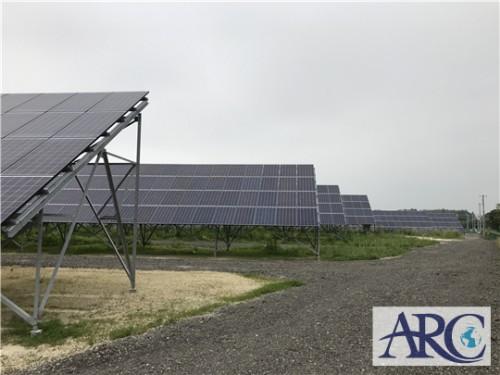 買取りさせて頂いた土地に続々と太陽光発電設置中!