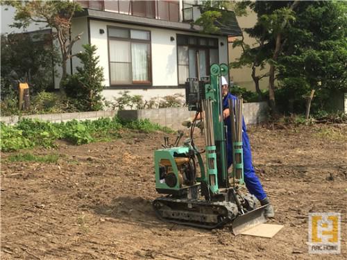 ☆新築戸建物件☆札幌市建築中現場情報を更新!地盤調査♪