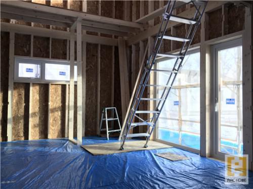 アークホーム新築注文住宅建築現場は整理整頓と清掃徹底