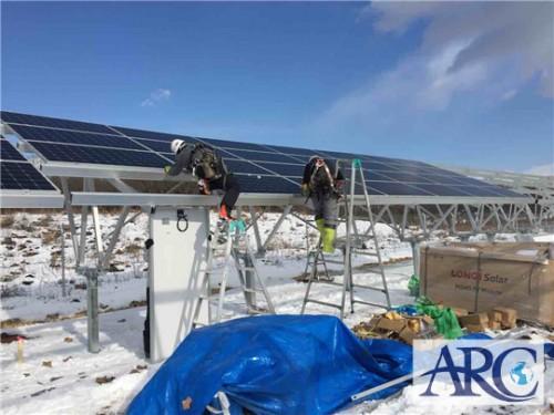 北海道太陽光パネル設置工事は天気との勝負!