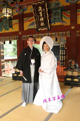 浅草神社結婚式・お仕度&写真は浅草写真館で!