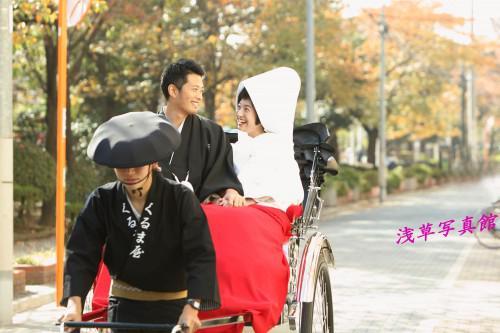 本格和装・浅草で行う秋のロケーション前撮り