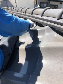 鶴ヶ島市で瓦の漆喰工事を施工致しました