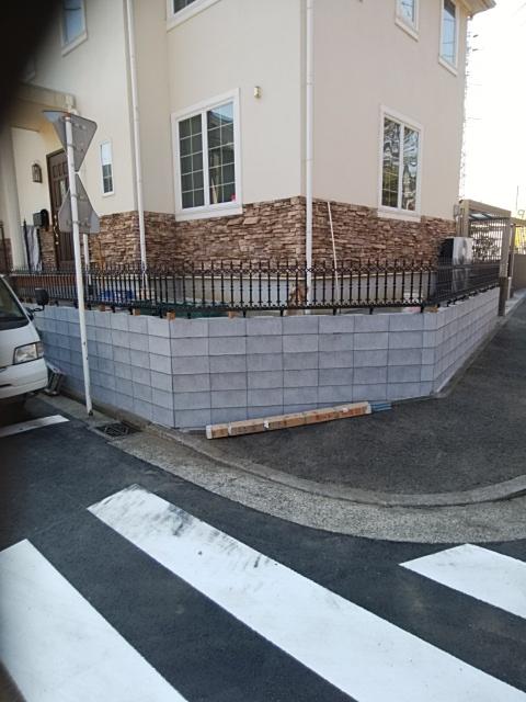 都筑区で外構工事。