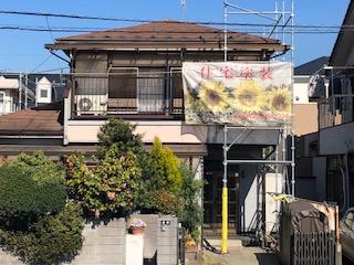 鶴ヶ島市で仮設足場の工事が完了しました