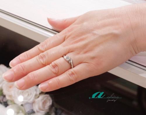 婚約指輪をリフォームされたお客様です