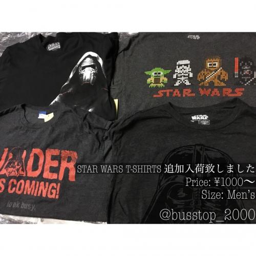 STAR WARS Tシャツ追加入荷しました!
