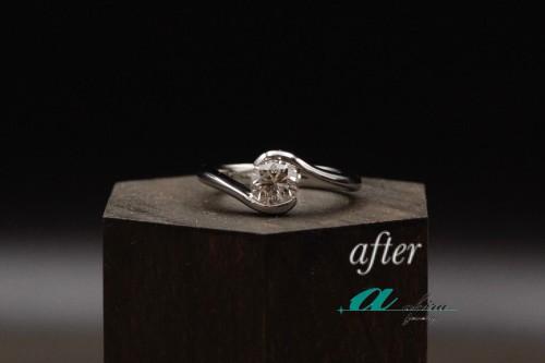 1カラットの婚約指輪の御納品を致しました幕張から御来店