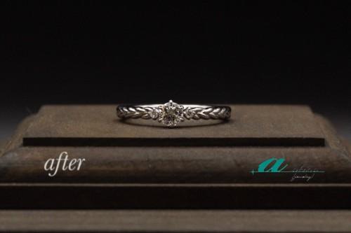 0.2カラット立て爪リングからの婚約指輪 千葉市中央区から