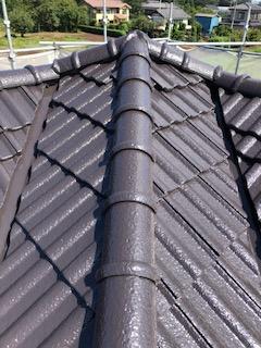 鶴ヶ島市にて屋根セメント瓦の塗装工事が完了致しました