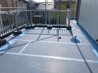 鶴ヶ島市で防水工事を施工しました