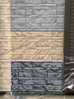 坂戸市でサイディングの2色塗り分け塗装サンプルを施工しました