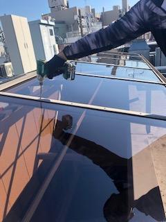 テラス屋根のポリカ交換工事を施工しました