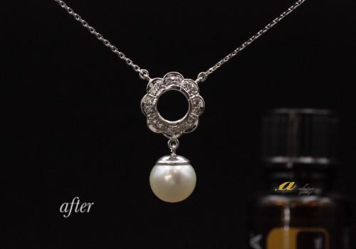 デザインそのまま真珠の指輪をペンダントネックレスに