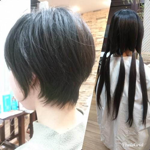 ヘアドネーション ショートヘア