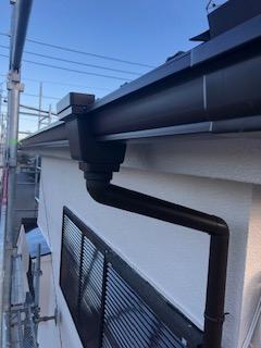 坂戸市で雨樋工事を施工しました