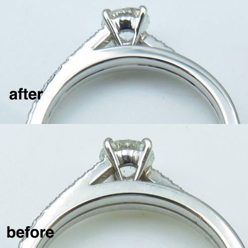 ミキモト婚約指輪の新品仕上げを致しました