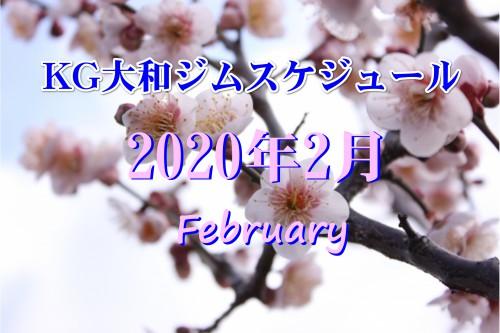 KG大和ジム2月のスケジュール