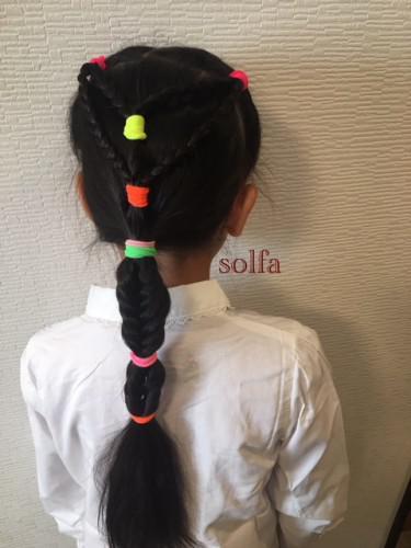 三つ編み&くるりんぱで簡単ヘアアレンジ☆