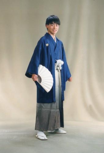 成人式後撮り:袴も着物も普段と違ってカッコ良かったです!