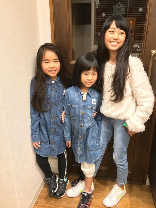仲の良い三姉妹 ご来店ありがとうございます