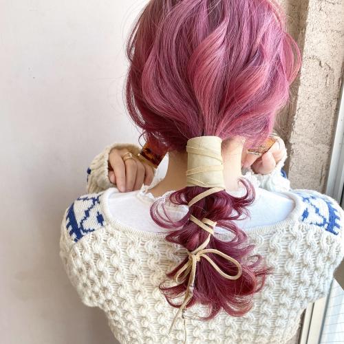 ピンク ポニー アレンジ☆